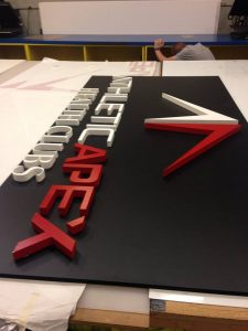 dimensional letters lobby sign