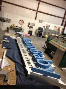 custom sign production and installation