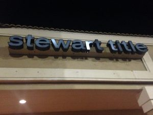 Custom channel letter storefront sign